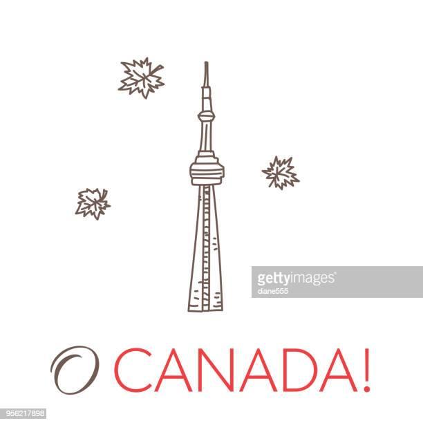 Kanada-Doodle-Zeichnungen