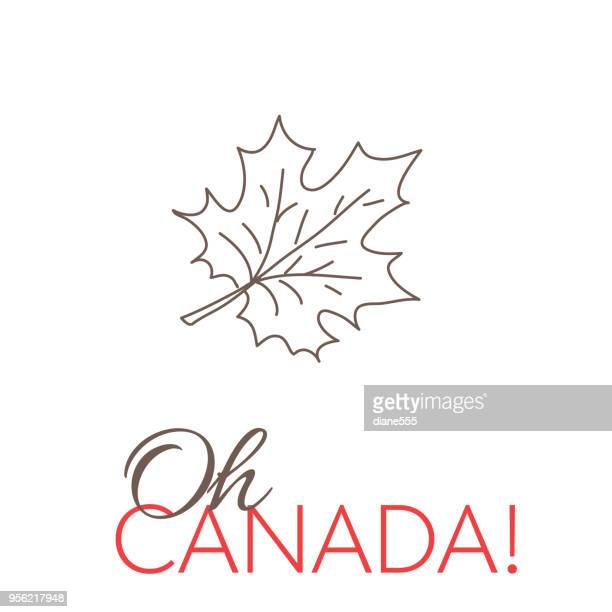 canada doodle drawings - canada day stock illustrations
