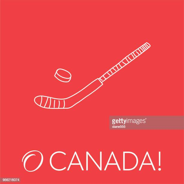 canada doodle drawings - hockey stick stock illustrations