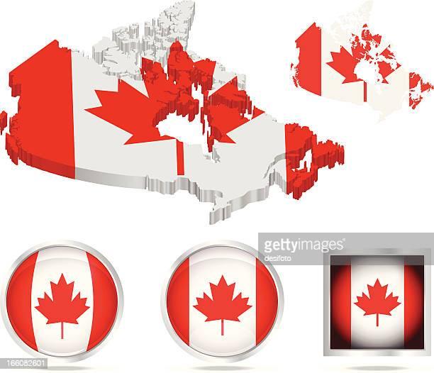 Kanada Flagge und Karte von Dateien