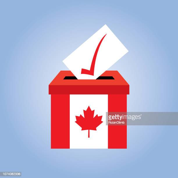 canada flag ballot box icon - traditionally canadian stock illustrations