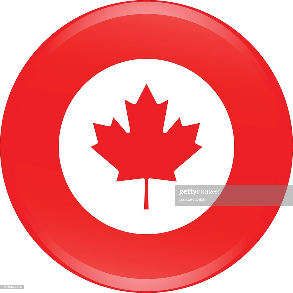 Canada flag icon vector outline illustration in 3D creative design
