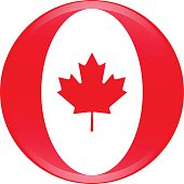 Canada flag icon vector outline illustration in 3D creative design