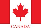 Canada flag vector background in an abstract illustration design