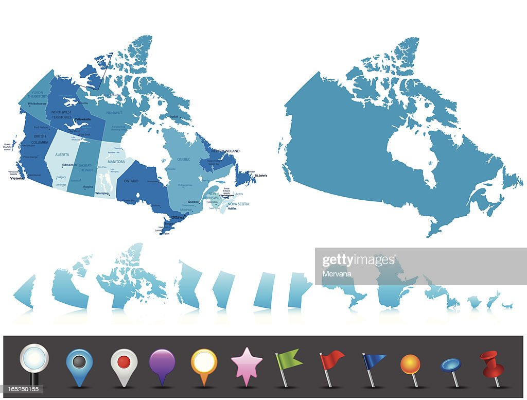 Canada - highly detailed political map