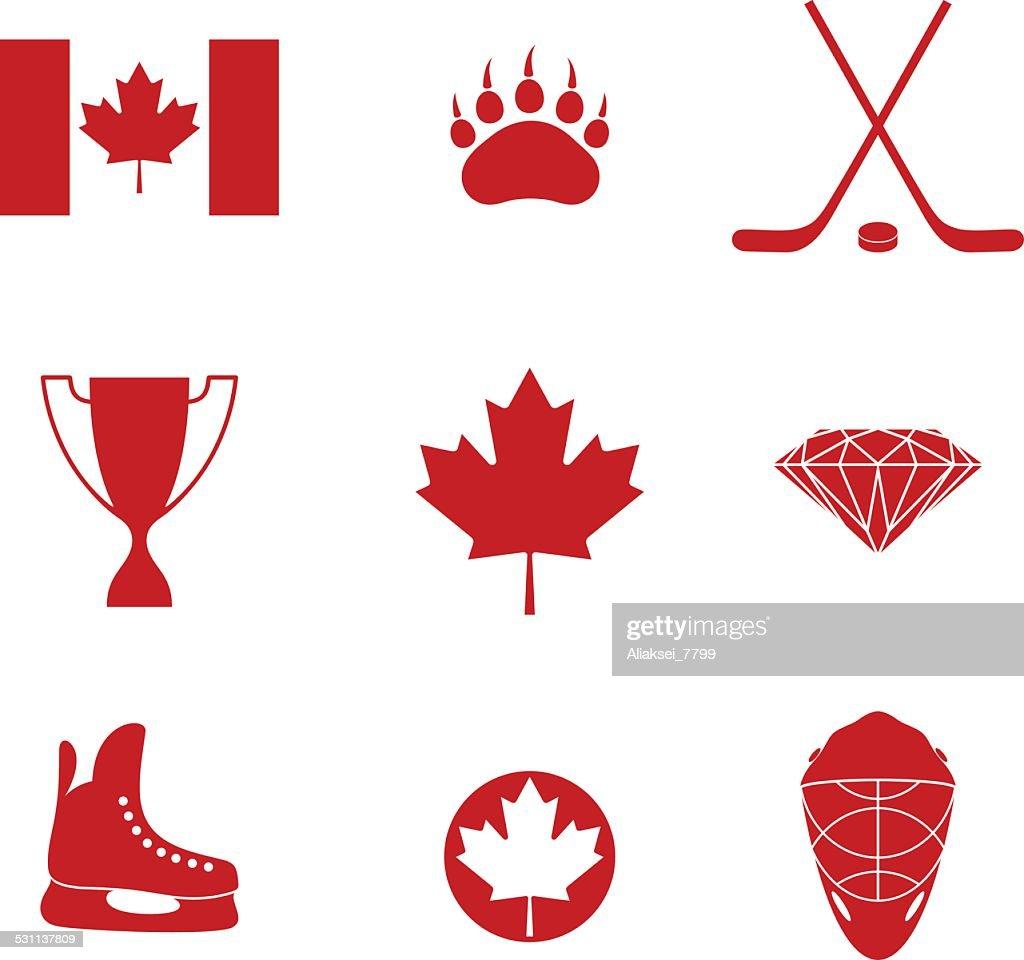 Canada. Icon set