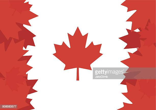 canada leaf flag - canada day stock illustrations