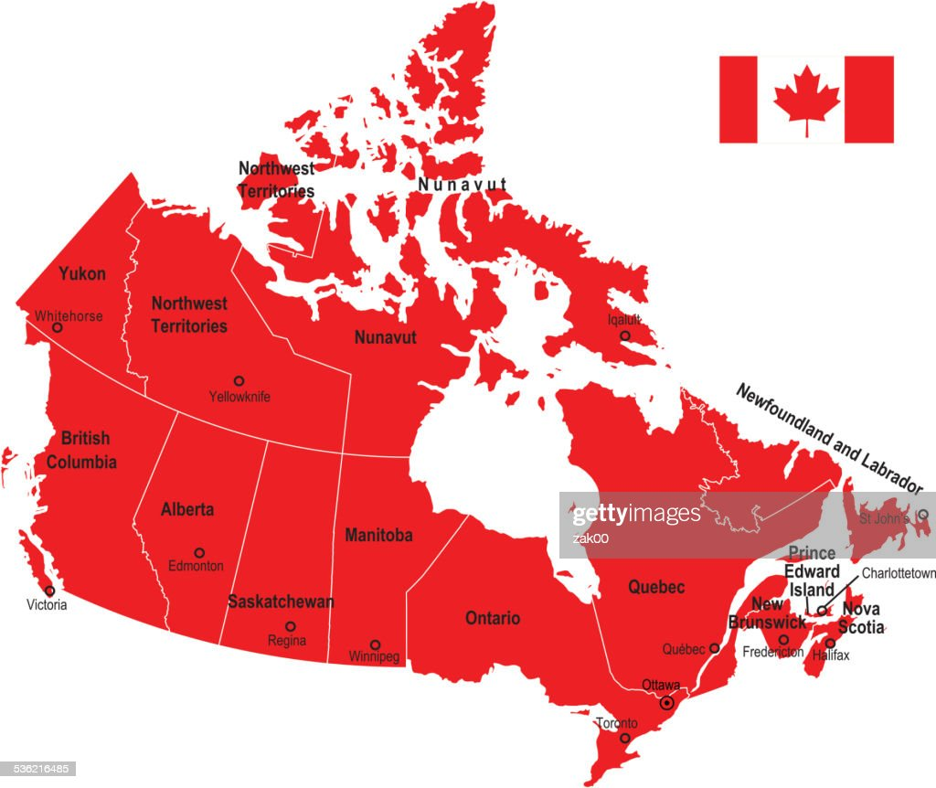 Canada Map Flag.Canada Map And Flag Vector Art Getty Images