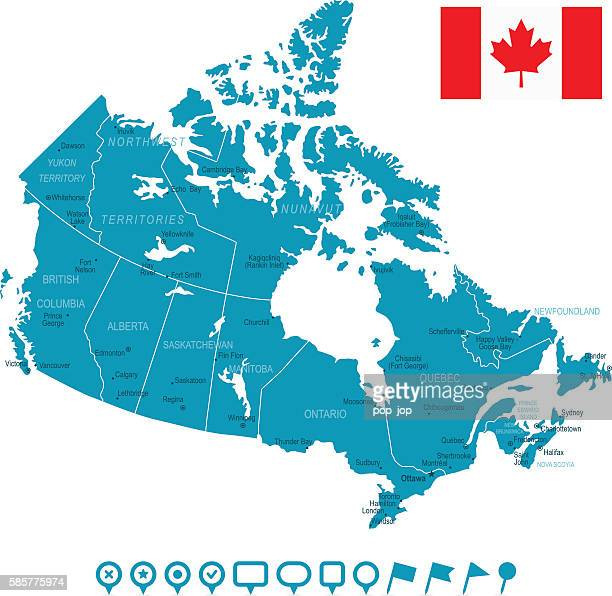 Canada Map and Navigation Icons