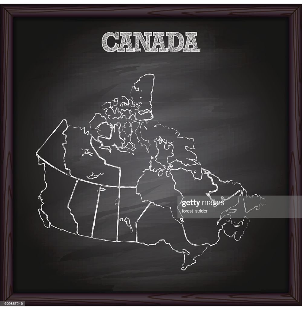 Canada map on blackboard : Stock-Illustration
