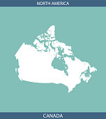Canada map outline vector cartography printable blue background image art. A creative map for educational purposes