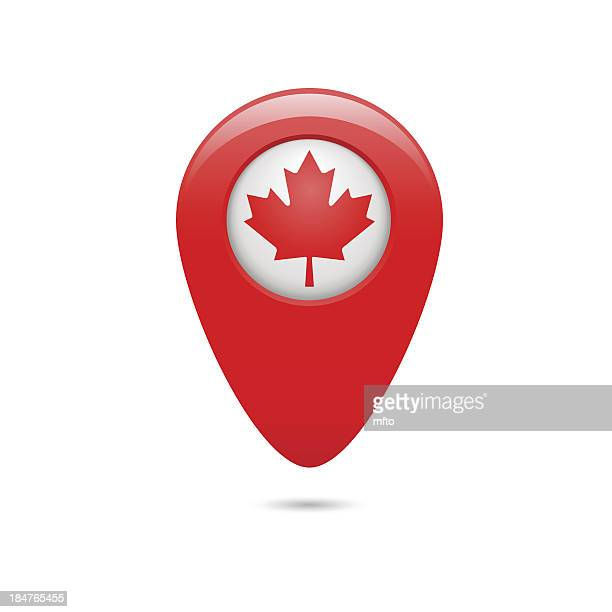 Canada map pointer
