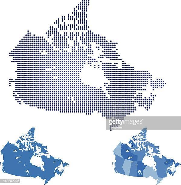 illustrazioni stock, clip art, cartoni animati e icone di tendenza di mappa di canada - canada