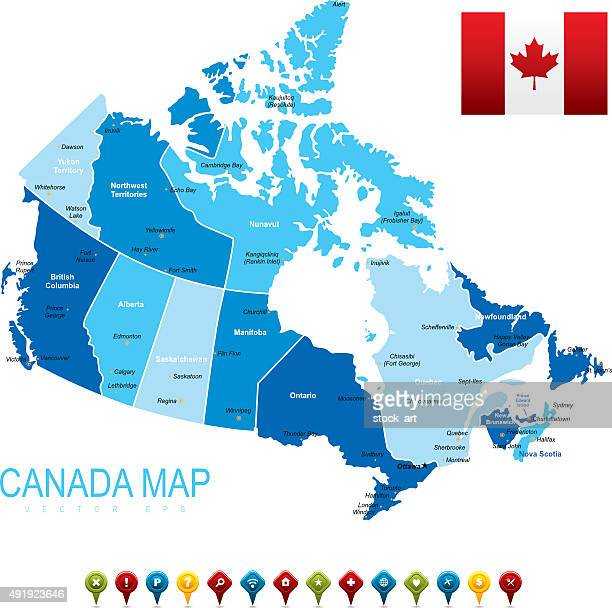 canada map - canada stock illustrations