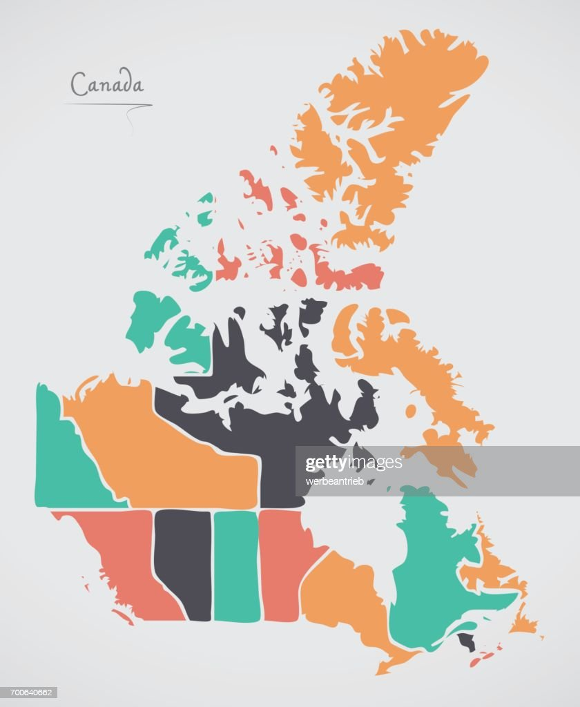 Canada map with states and modern round shapes vector art getty images canada map with states and modern round shapes vector art gumiabroncs Image collections