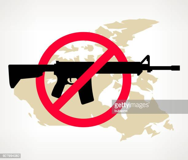 canada no gun violence vector poster - forbidden stock illustrations