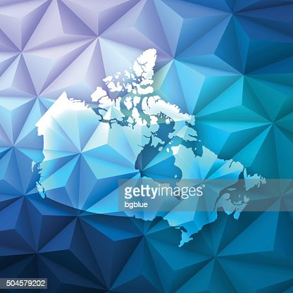 Canada on Abstract Polygonal Background - Low Poly, Geometric