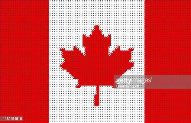 Kanada pixelte Vektorflagge