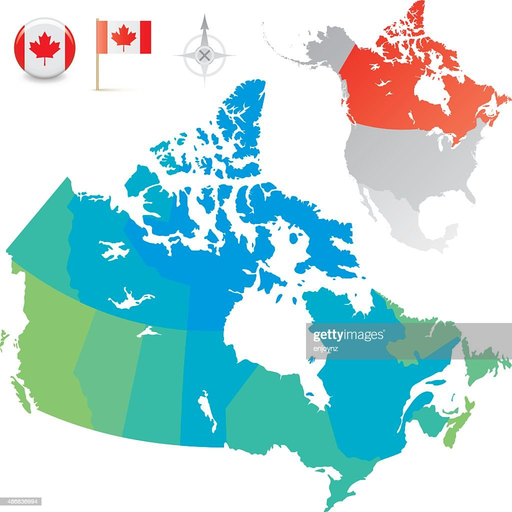 Provinces And Territories Of Canada Map.Canada Provinces And Territories Map Stock Illustration Getty Images