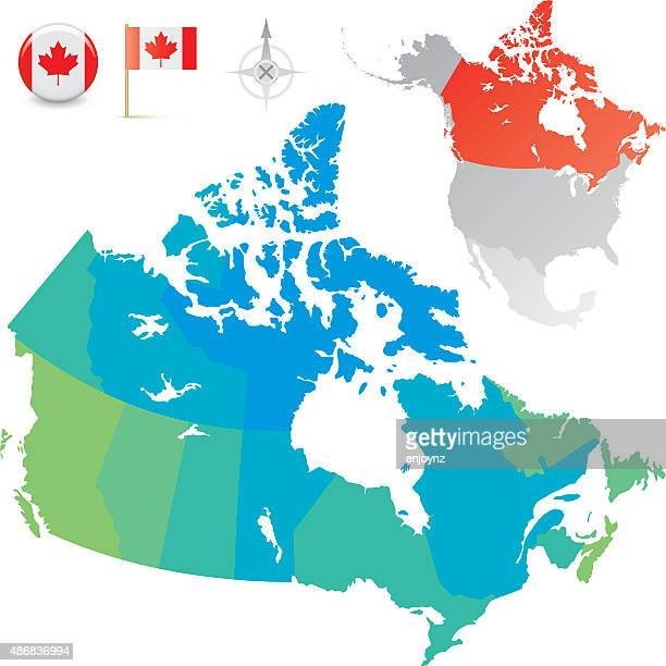 Canada provinces and territories map