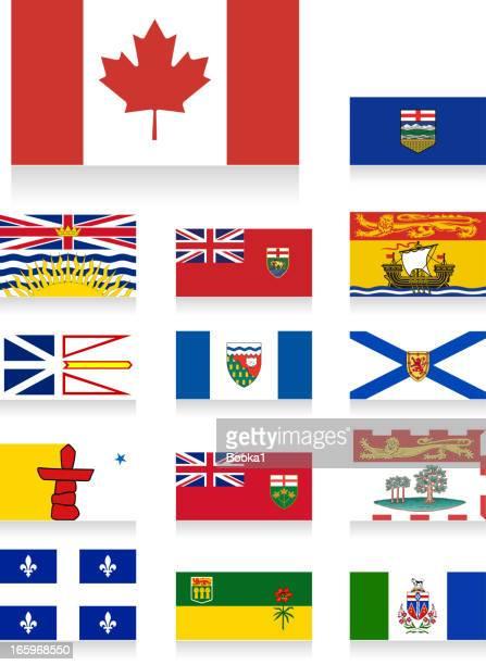 canada provincial flags - flag of nova scotia stock illustrations