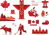 Canada sign and symbol, Info-graphic elements.