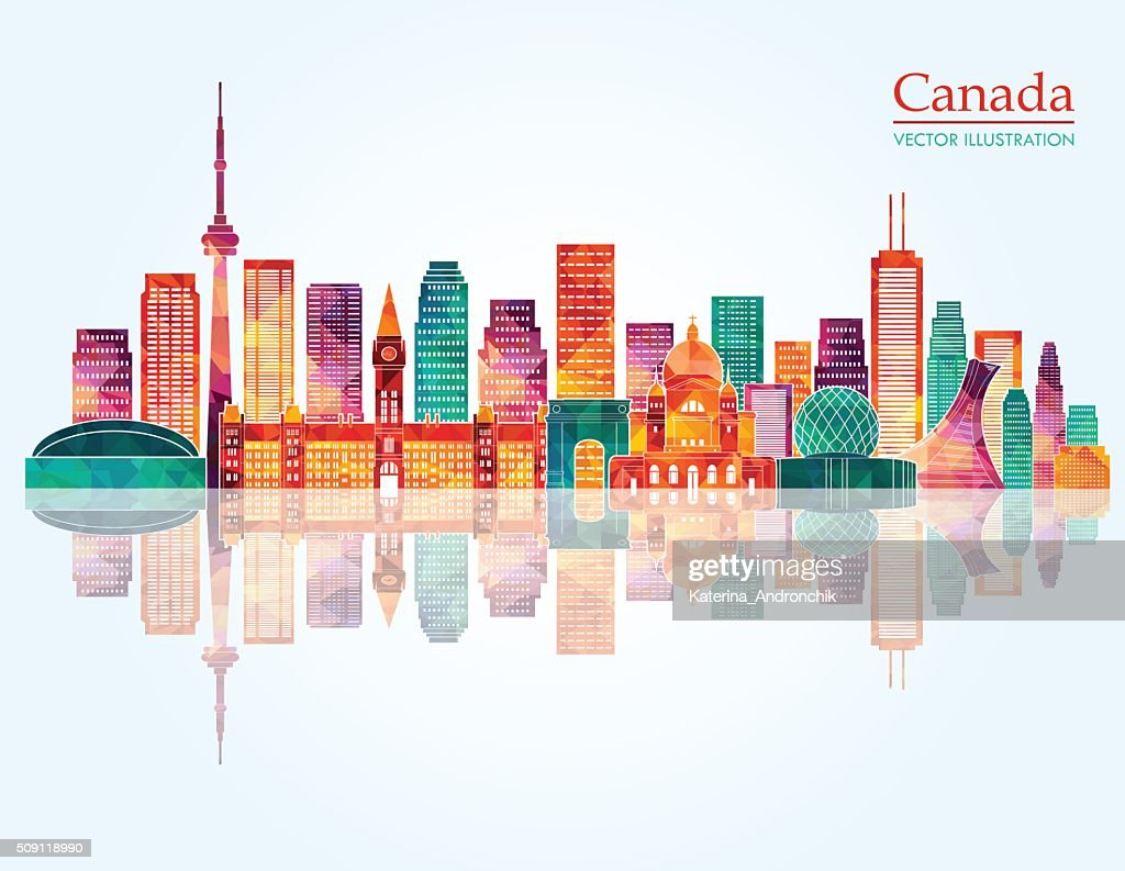 Canada skyline. Vector illustration