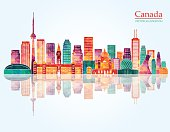 Canada skyline. Vector illustration