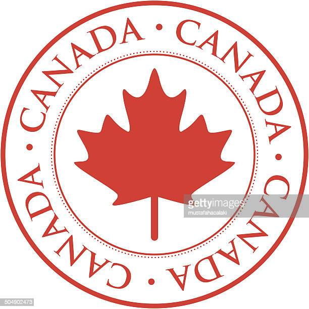 canada stamp - canadian flag stock illustrations, clip art, cartoons, & icons