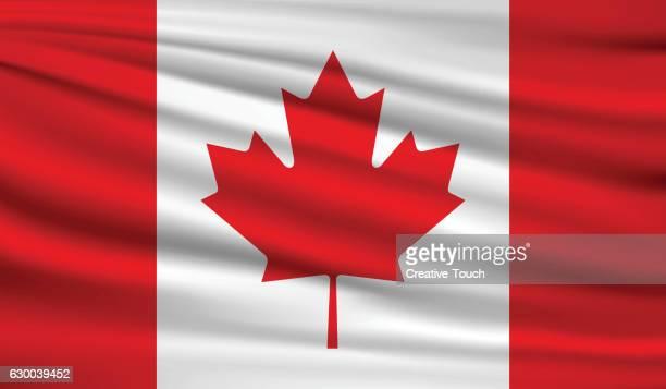 canada - canadian flag stock illustrations
