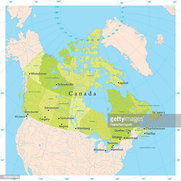 Kanada Vektor-Karte
