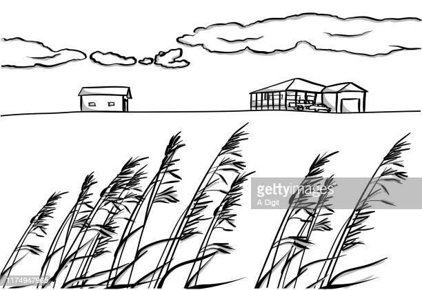 カナディアン ファーム ハウス - プレーリー点のイラスト素材/クリップアート素材/マンガ素材/アイコン素材