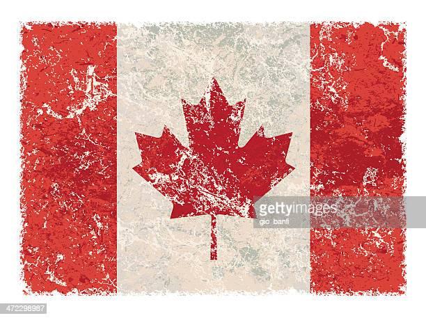 canadian flag - canadian flag stock illustrations