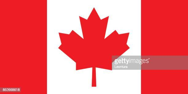 canadian flag (official colors) - canada stock illustrations