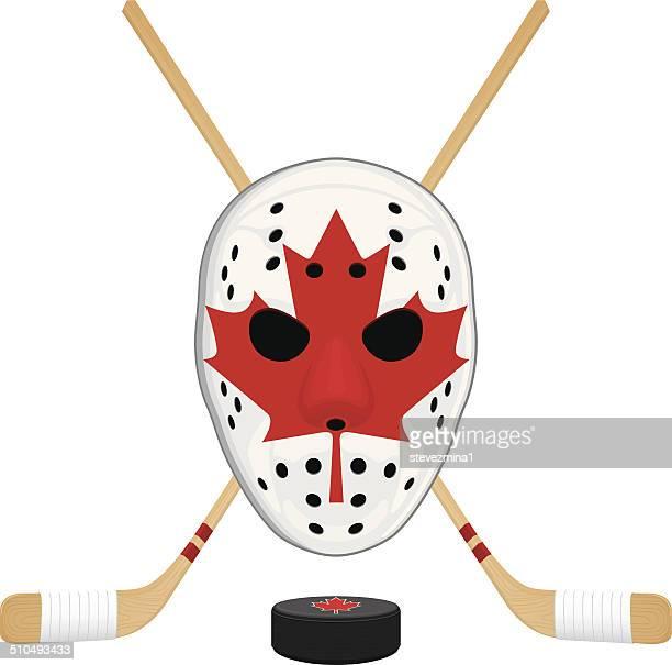 canadian hockey gear - hockey stick stock illustrations