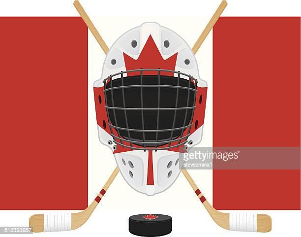 canadian hockey gear - ice hockey stick stock illustrations