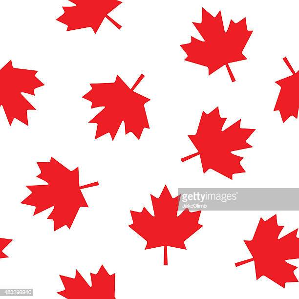 canadian leaf pattern - canada day stock illustrations