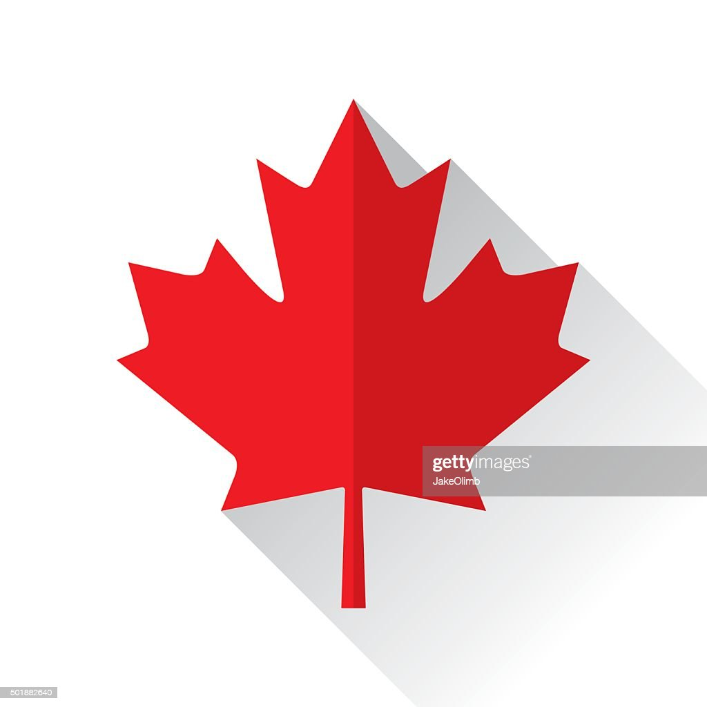 Canadian Maple Leaf Icon Flat