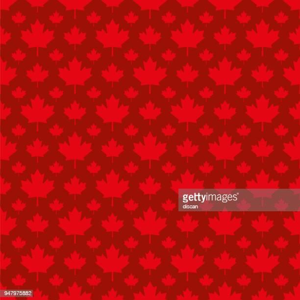 canadian maple leaf symbol seamless pattern - illustration - maple leaf stock illustrations