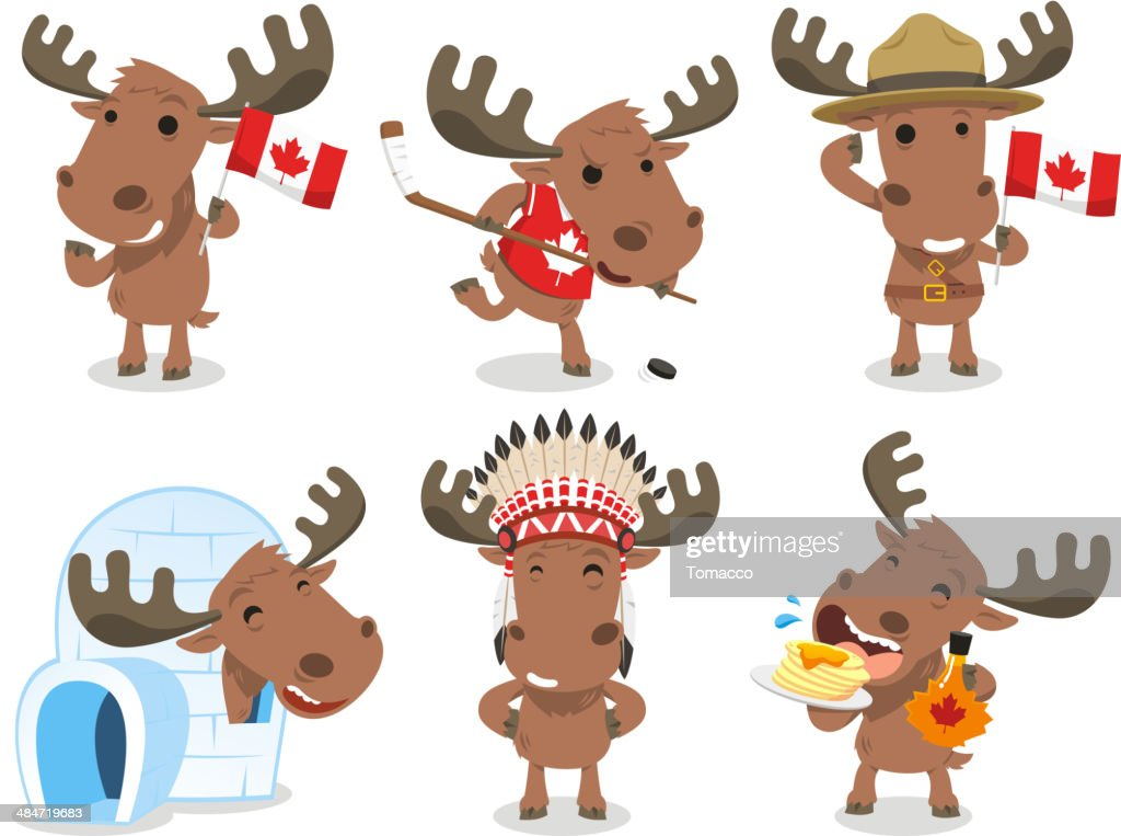 Canadian Moose Canada Mammal Animal Species Icon Culture