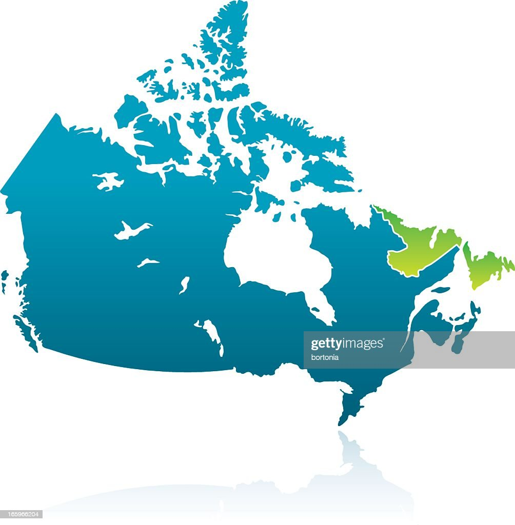 Canadian Province: Newfoundland and Labrador : Vector Art