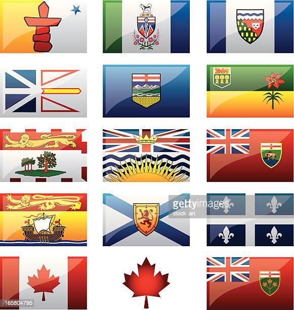 canadian provinces flags - flag of nova scotia stock illustrations