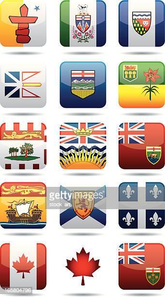 KANADISCHER PROVINZEN flags