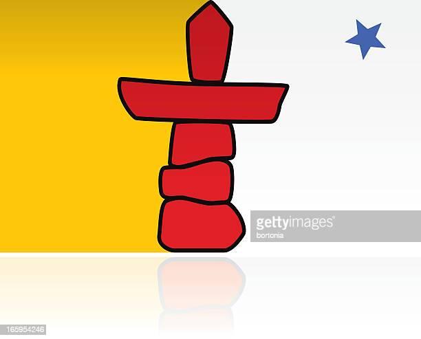 KANADISCHE PROVINZREGIERUNG Flagge: Nunavut