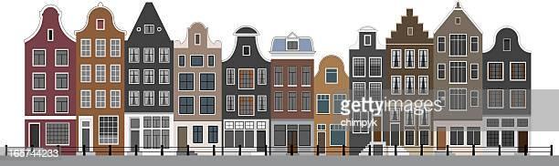 Canal em Amsterdão casas