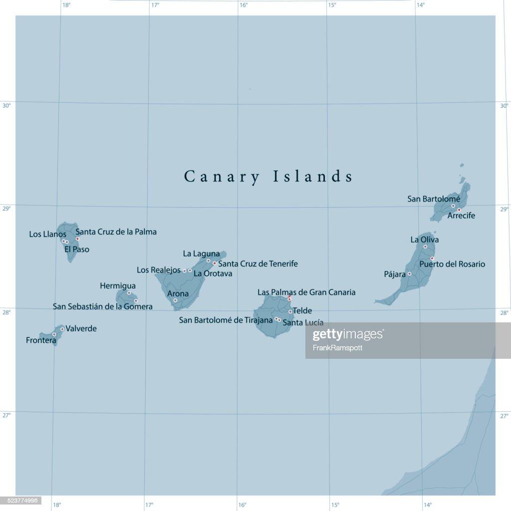Canary Islands Vector Road Map