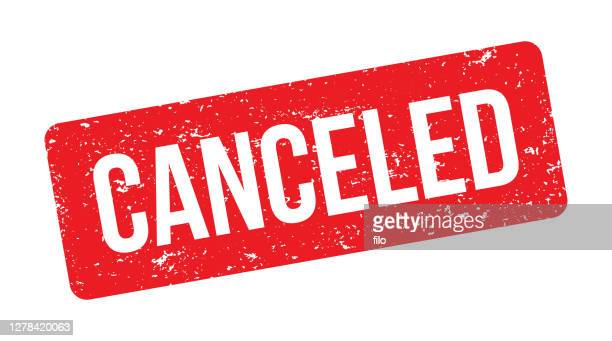cancel red ink stamp - cancellation stock illustrations