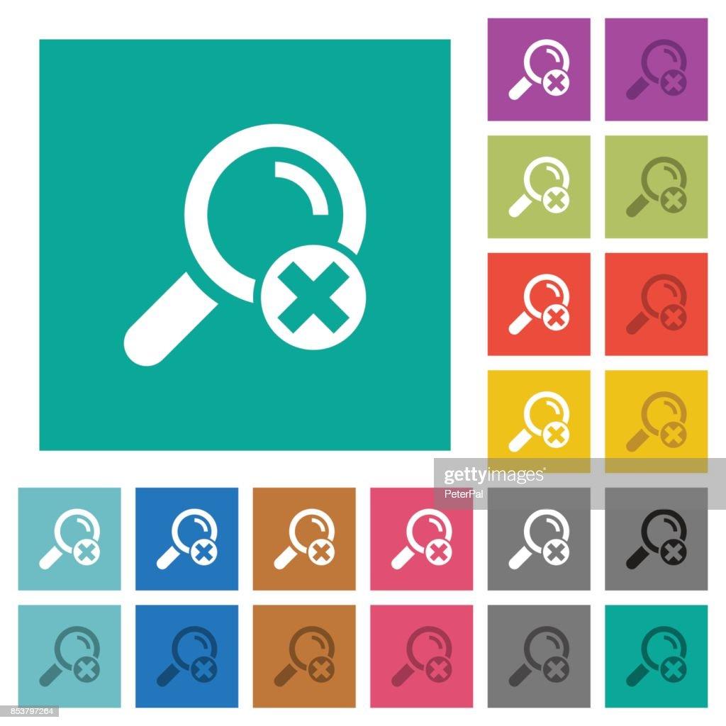 Cancel search square flat multi colored icons