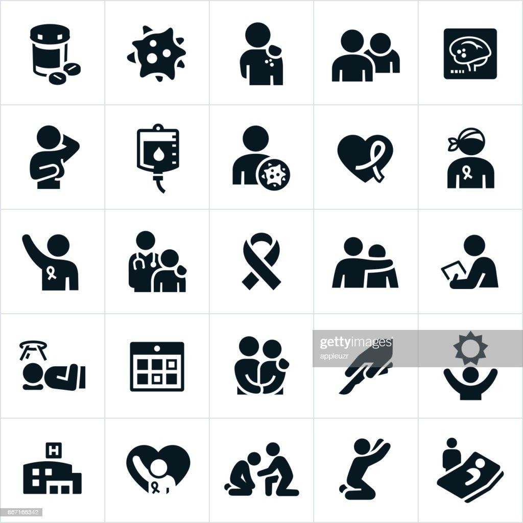 Ícones de câncer : Ilustração