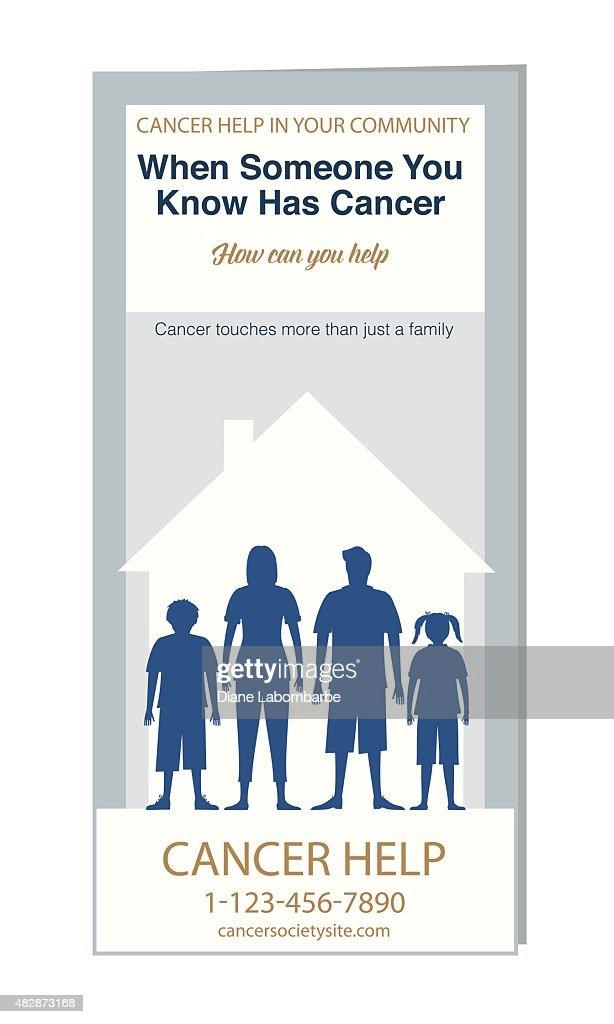 Cancer Selfhelp Brochure Or Pamphlet Template Vector Art Getty - Brochure pamphlet template